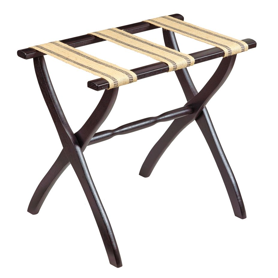 Wood contour leg luggage racks gate house furniture for Gatehouse furniture