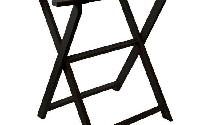 gate house furniture black eco tall luggage rack