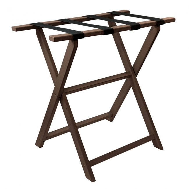 gate house furniture brown tall eco luggage rack
