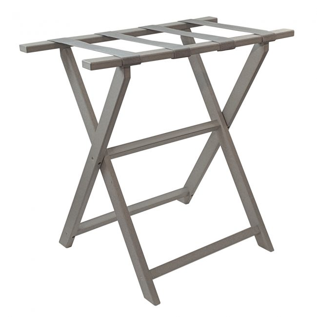 gate house furniture light grey tall eco luggage rack