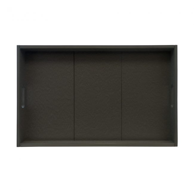 Gate House Furniture Black ECO Rectangle Serving Tray