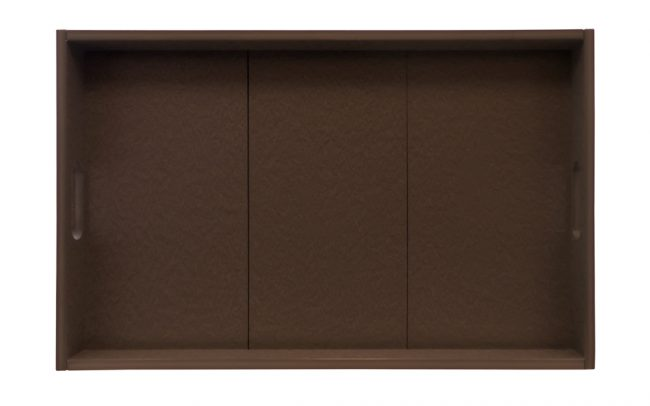 Gate House Furniture Brown ECO Rectangle Serving Tray