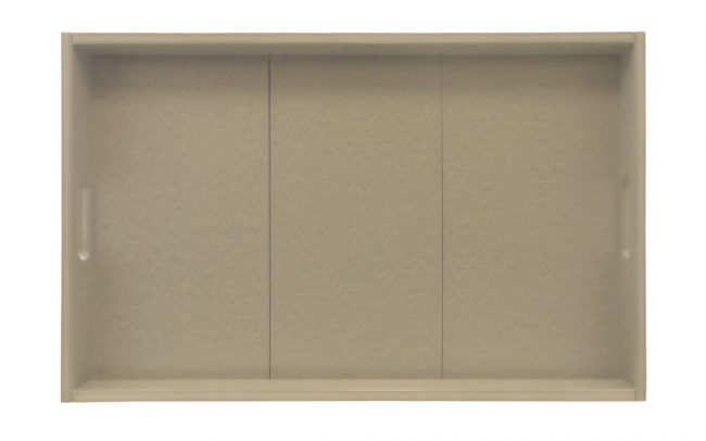 Gate House Furniture Taupe ECO Rectangle Serving Tray