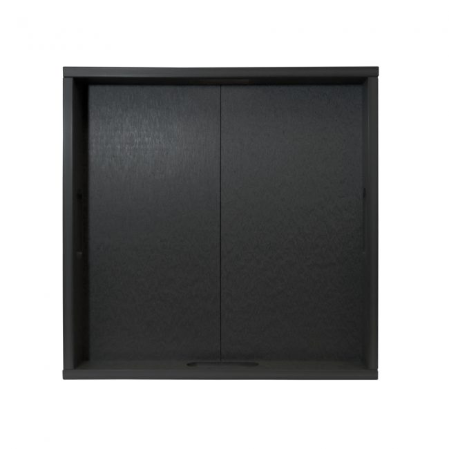 Gate House Furniture Black ECO Square Serving Tray