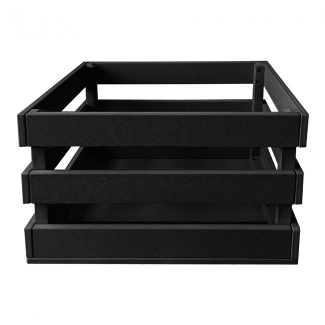 gate house furniture black eco crate