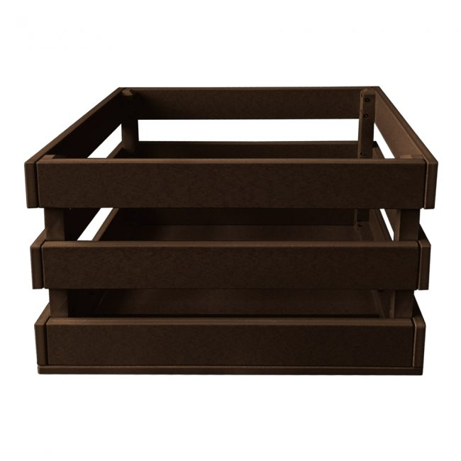 gate house furniture brown eco crate