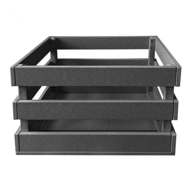 gate house furniture dark grey eco crate