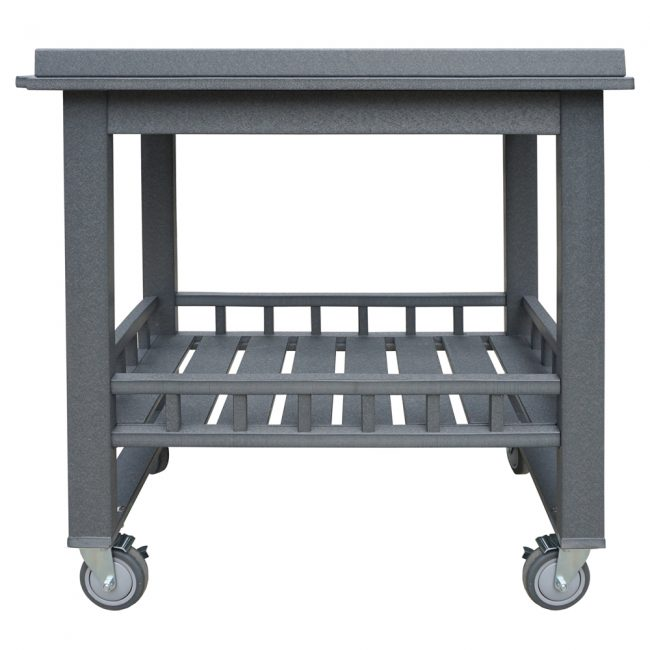 gate house furniture dark grey eco cart