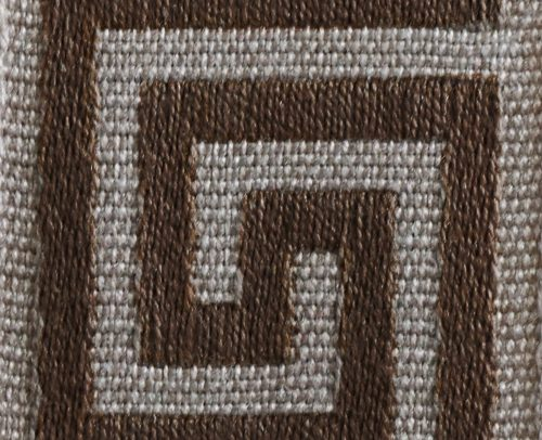 gate house furniture natbr-Natural Brown Greek Key